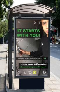 bus stop billboard1 - sim snapchat poster