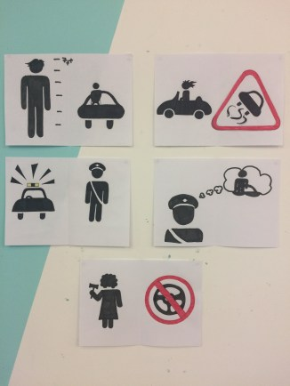 Our finished pictogram narrative