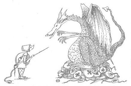 knopen verzamelende draak