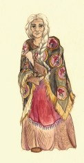 Morgan's childhood guardian in The Windkeeper. Age: 68. Magic: Air, status: skymist; Water, specialty: healing. Tools of magic: wind chimes and herbs activated by water.