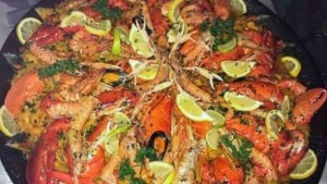 Paella homard