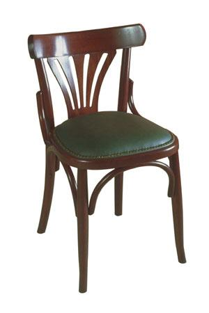 Chaise bois assise rembourre  Bistrot