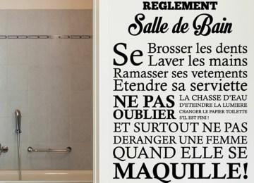Stickers Salle De Bain Texte | Citation Humour Salle De Bain Dnanpa