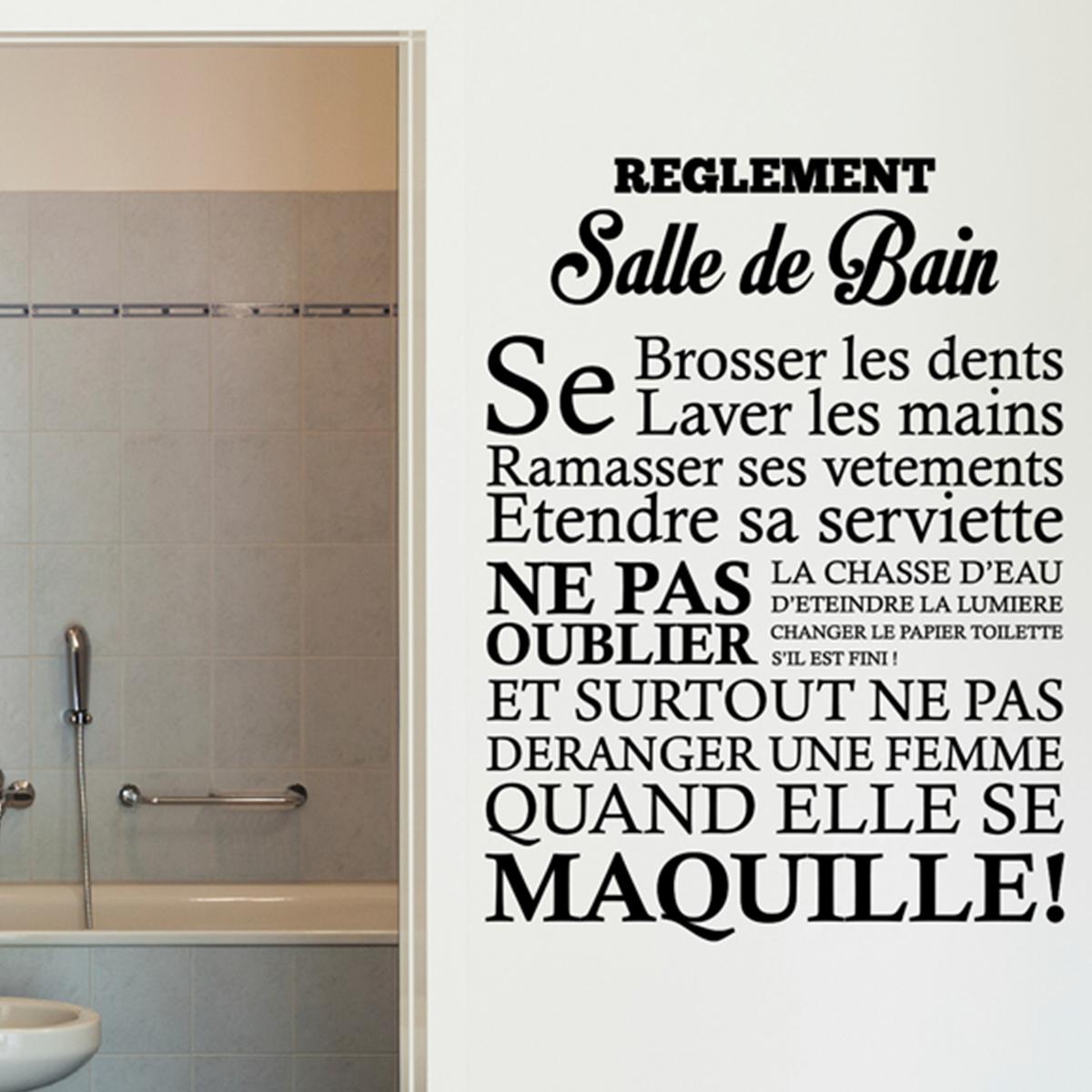 ... Salle De Bain Stickers Citations · Citation ...