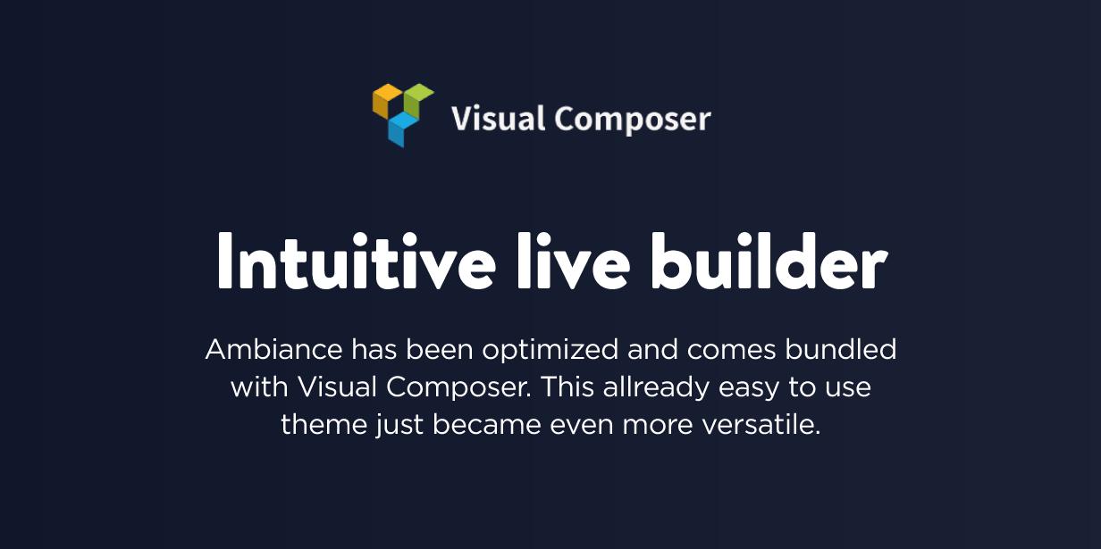 Ambiance Restaurant Live builder Visual Composer