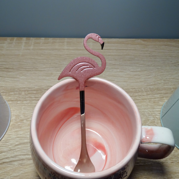 Petite cuillère flamant-rose