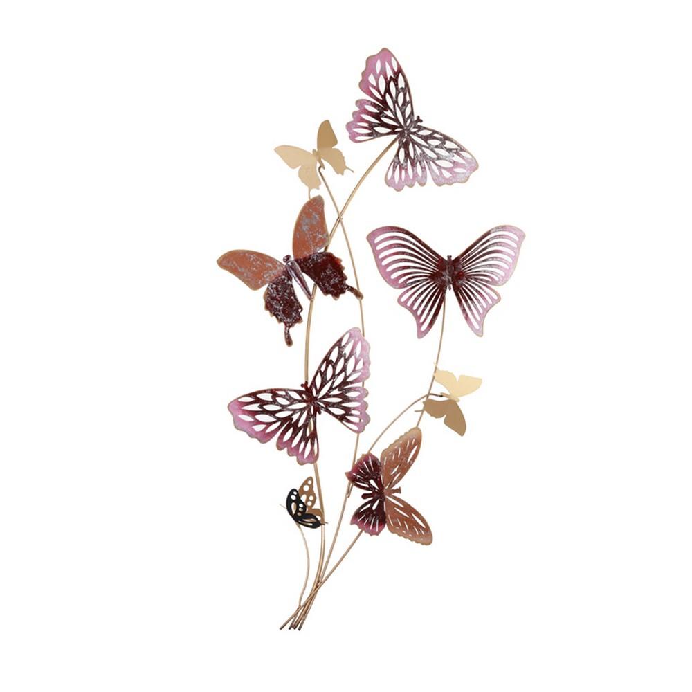 deco papillons en metal