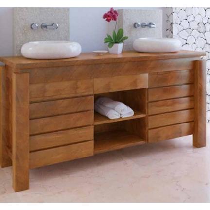meuble bas de salle de bain teck legian