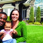 Black couple with baby