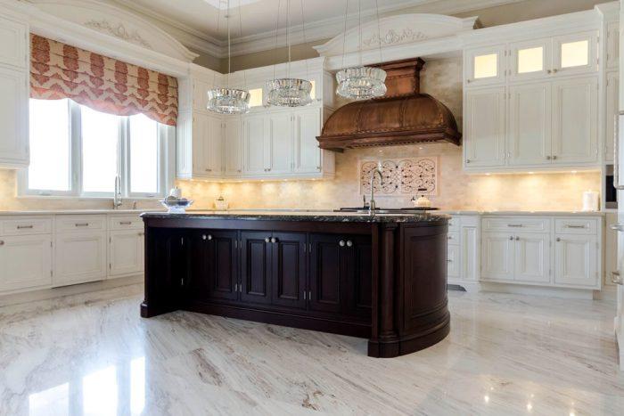 Chateau Inspired Custom Home - Main Kitchen