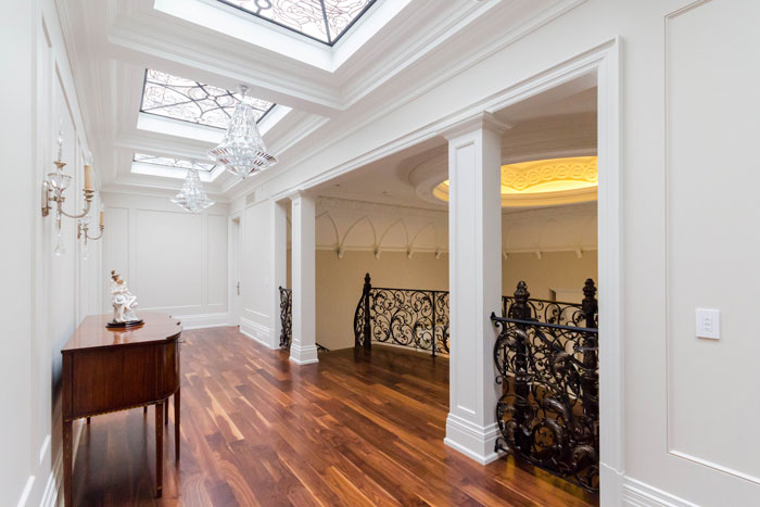 Chateau Inspired Custom Home - Hallway