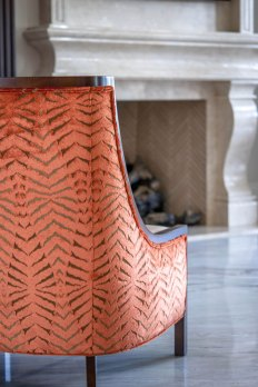 Chateau Inspired Custom Home - Custom Chair upholstery detail