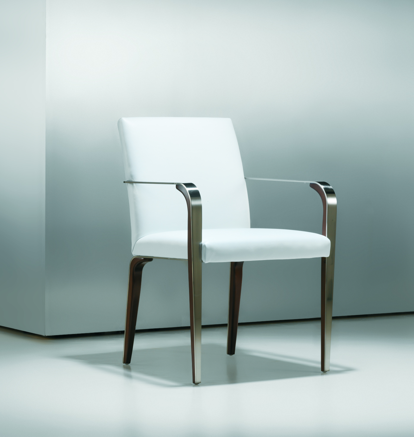 Metal Chair With Wood Seat Fine Modern Metal Wood Side Chair Ambience Doré