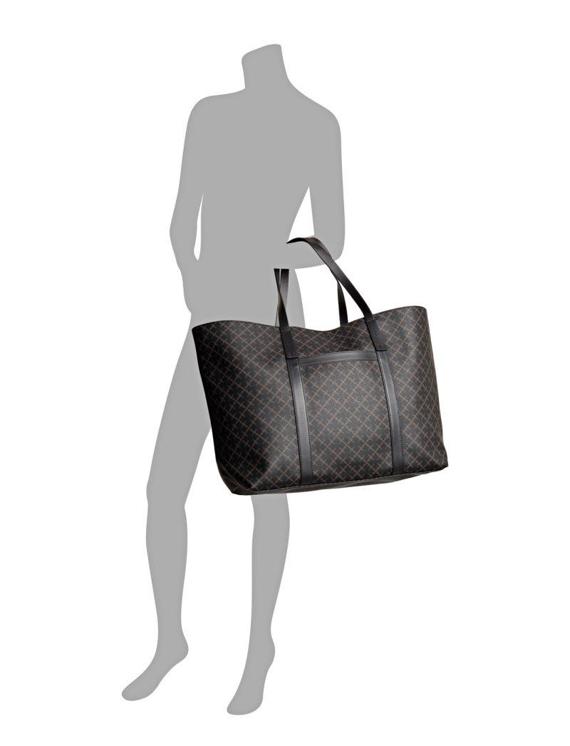Brunmønstret stor shopper By Malene Birger 61203056 trinolas