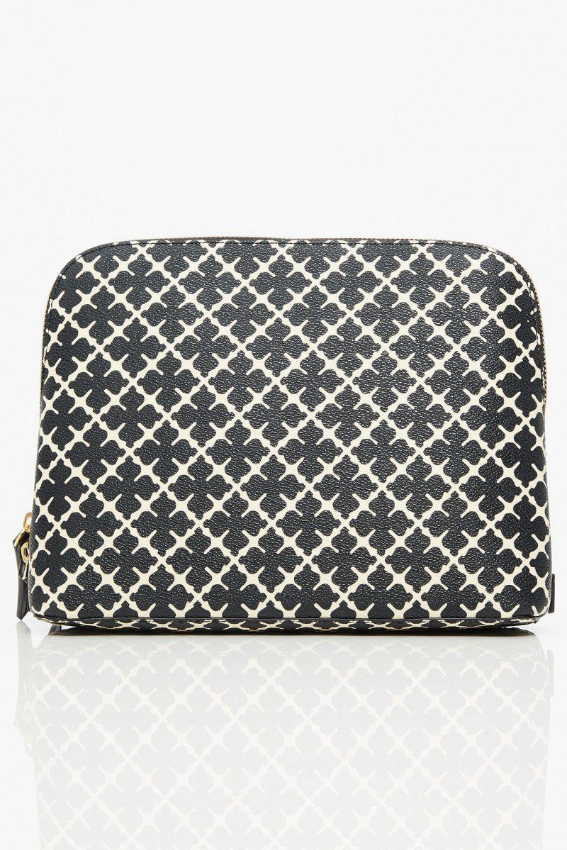 Sortmønstret eller brunmønstret clutch eller toalettnmappe By Malene Birger - pauchy 61203153