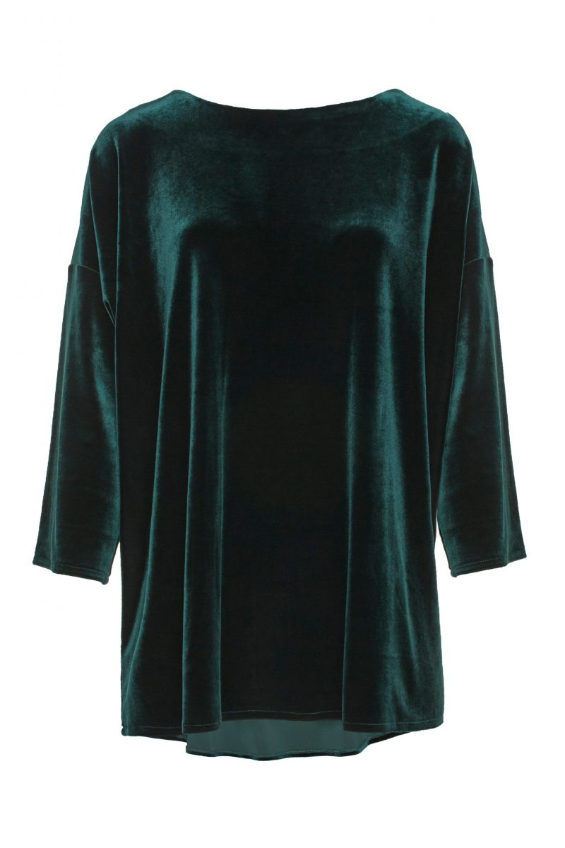 Smaragdgrønn, blå eller sort velour topp Katrin Uri - 204 Golden gate top