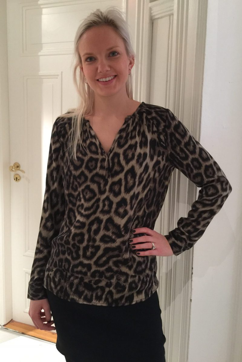 Leopard silkebluse Dea Kudibal - Irene leopard