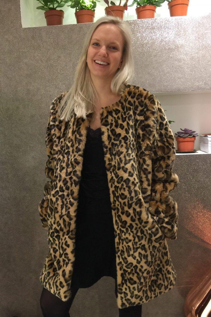 Leopard kåpe Katrin Uri - 500 biba leopard coat
