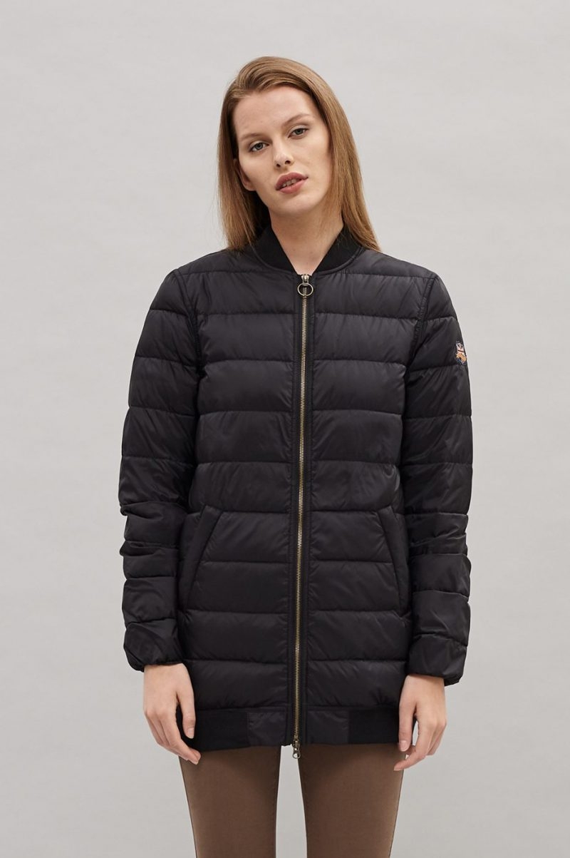 Sort dunjakke Newhouse - Long Bomber Down Jacket
