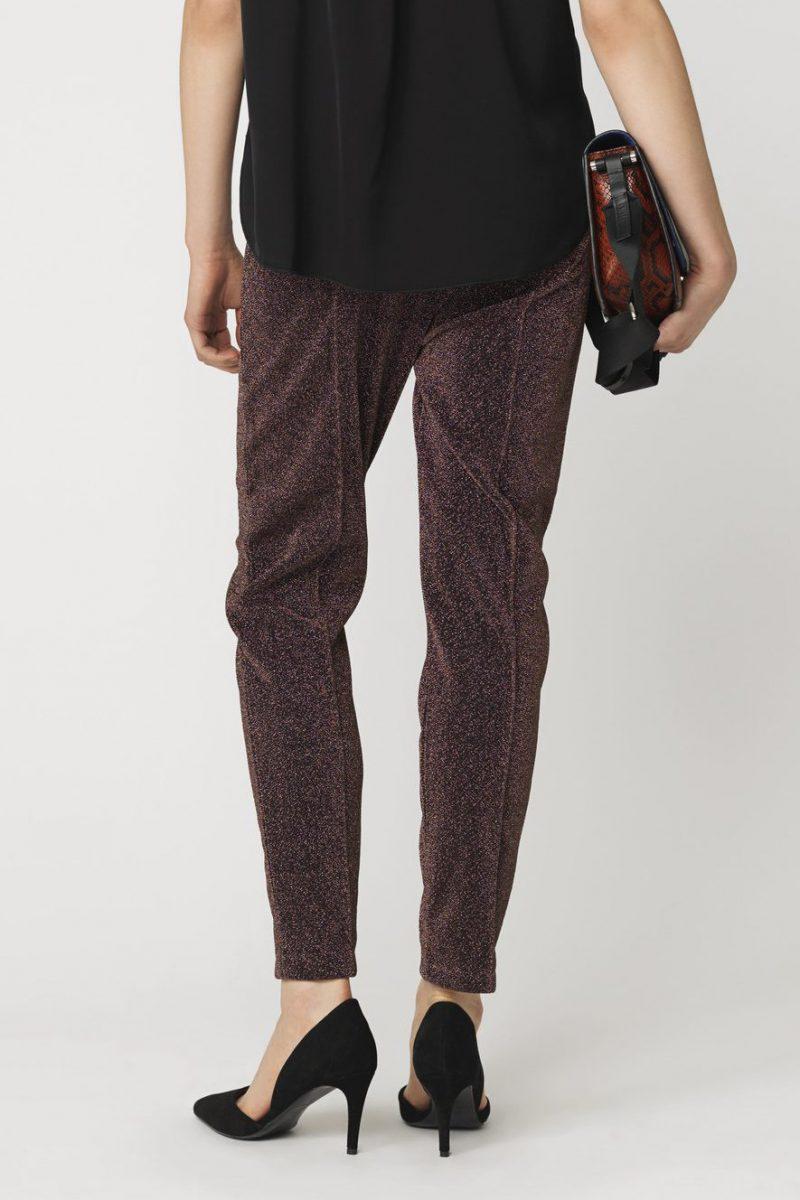 Kobberfarget lurex leggings By Malene Birger - Q64168001 ivannoz
