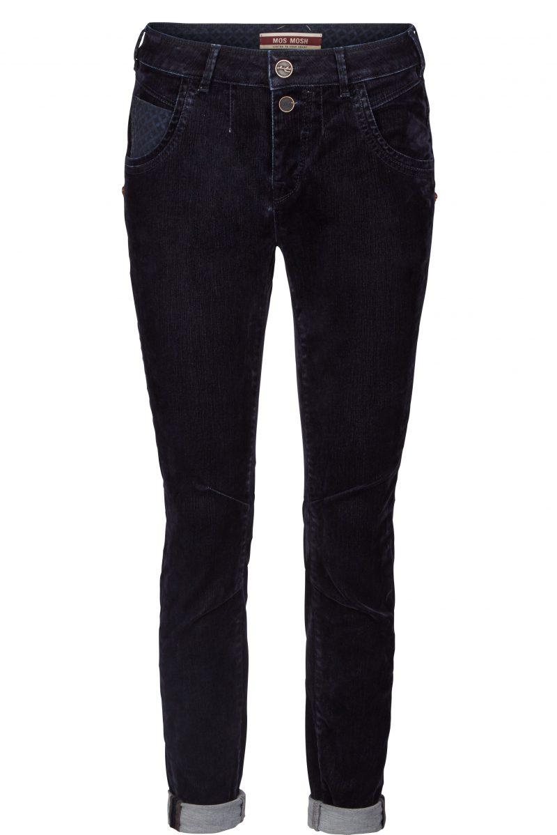 Dark navy velour jeans Mos Mosh - 119950 jamie velvet pant