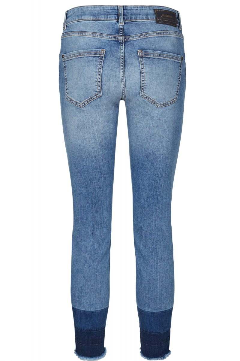 Smal lys jeans med tricolore farget ankel Mos Mosh - 121780 sumner trio121780 - Sumner Trio - Pack Back
