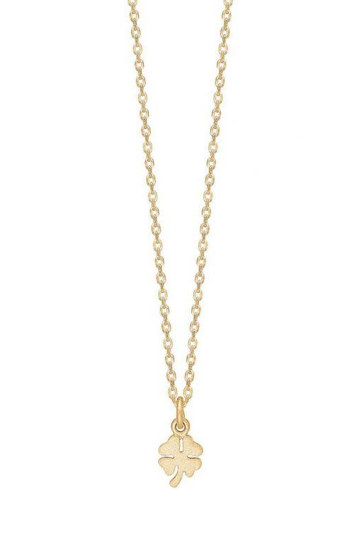 'Clover' kjede med kløver Enamel Copenhagen - N9GM Necklace, clover