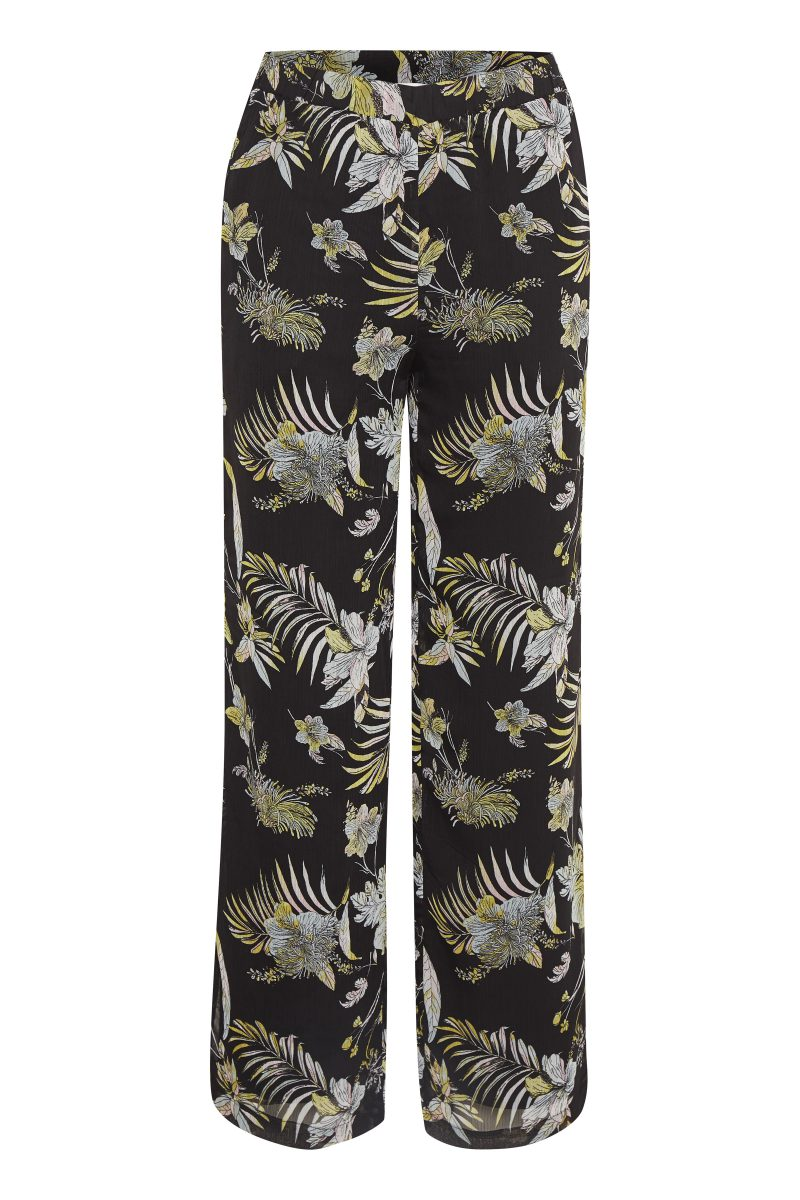 Sortgullmønstret bukse Gestuz - maui pant 1997
