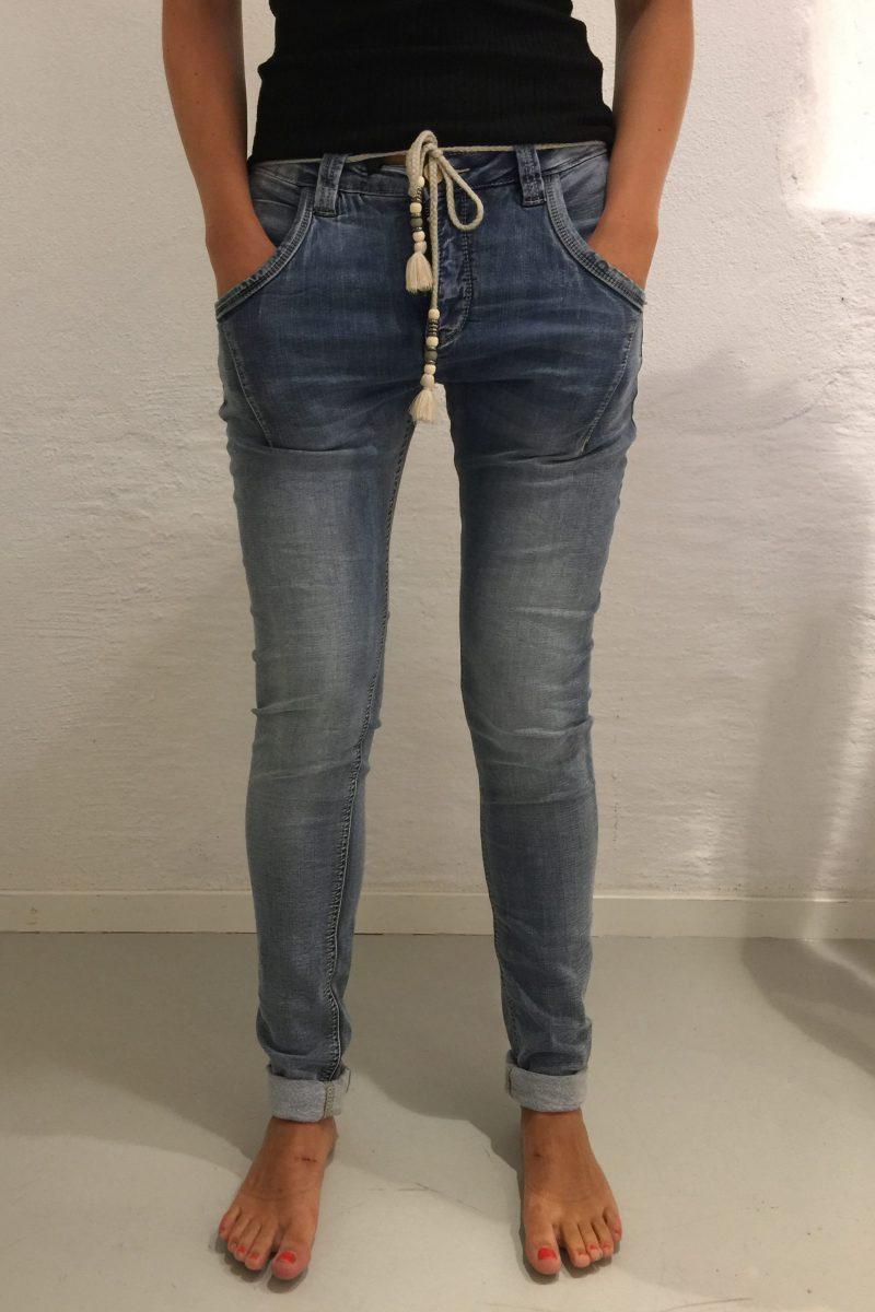 Supermyk jogging jeans med fleece på innsiden Bianco Jeans