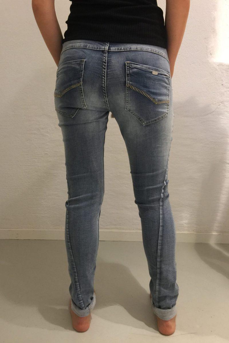 Supermyk jogging jeans med fleece på innsiden Bianco jeans - Fleece jogging 1116187FL