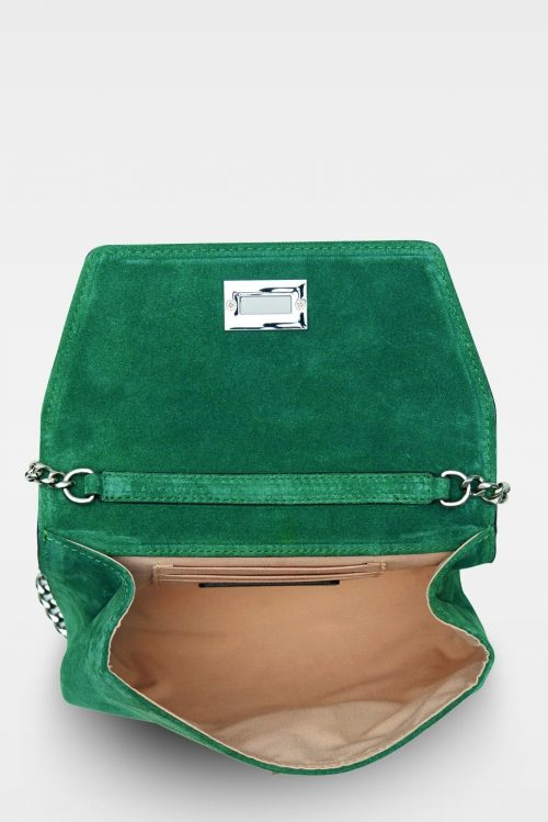 Grønn liten semsket veske Decadent Copenhagen - 143 cleva small pouch Suede Green
