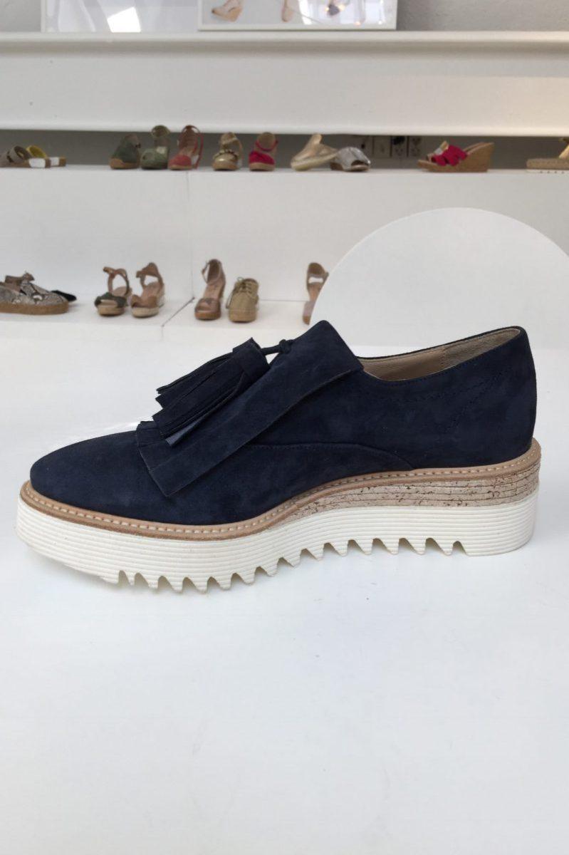 Blå semsket sko med dusk Laura Bellariva