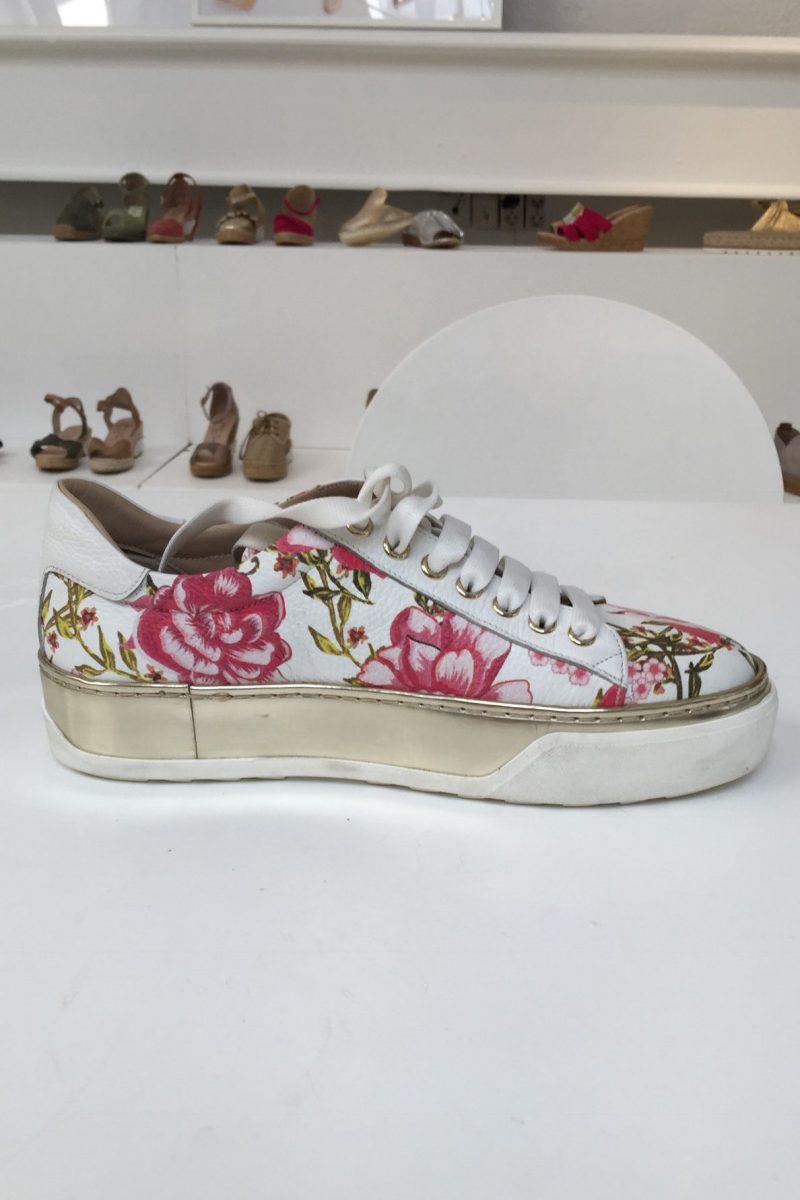 Hvit med røde blomster sneacker Laura Bellariva - 1020