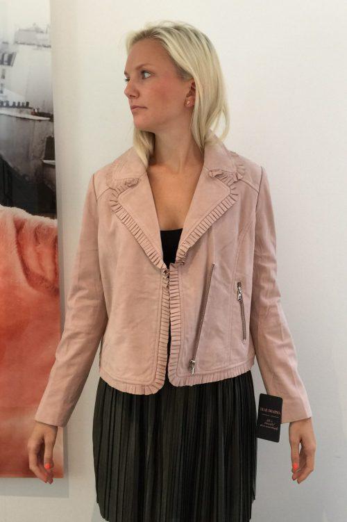Dus rosa skinnjakke Dear Dharma - kelly jacket