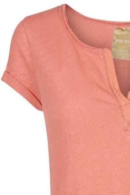 Pachfarget t-shirt i bomull/lin Mos Mosh - 117440 troy tee ss