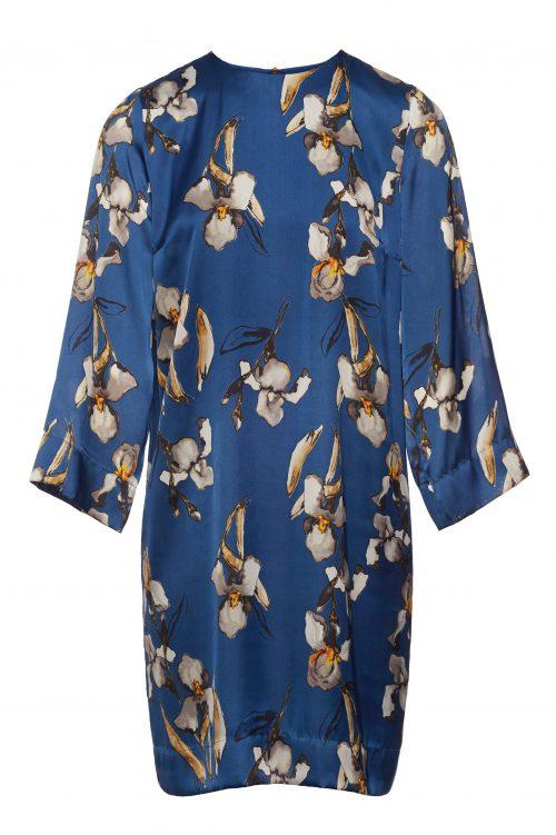 Kongeblå viskose kjole Katrin Uri - 677 mangnolia blue dress