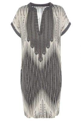 Sorthvit grafisk mønstret silkekjole Dea Kudibal - Yoke Exlusive 30-118E