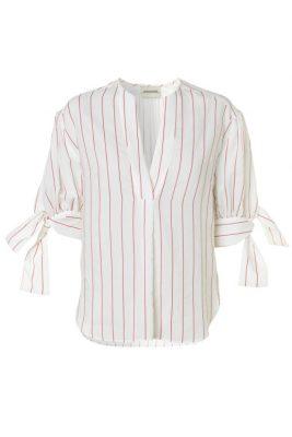 Offwhite med røde striper bluse By Malene Birger - brigidah q64838001