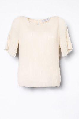 Offwhite plissébluse med kort erm Cathrine Hammel - 453.118 miami t-shirt