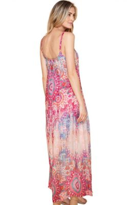 Rosamønstret 'Odessa' lang kjole med stopper Hale Bob - 82mw6507 odessa