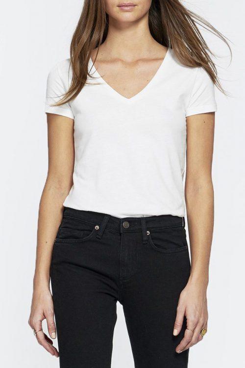 Hvit eller gråmelert bomull t-shirt Majestic Filatures - E181904