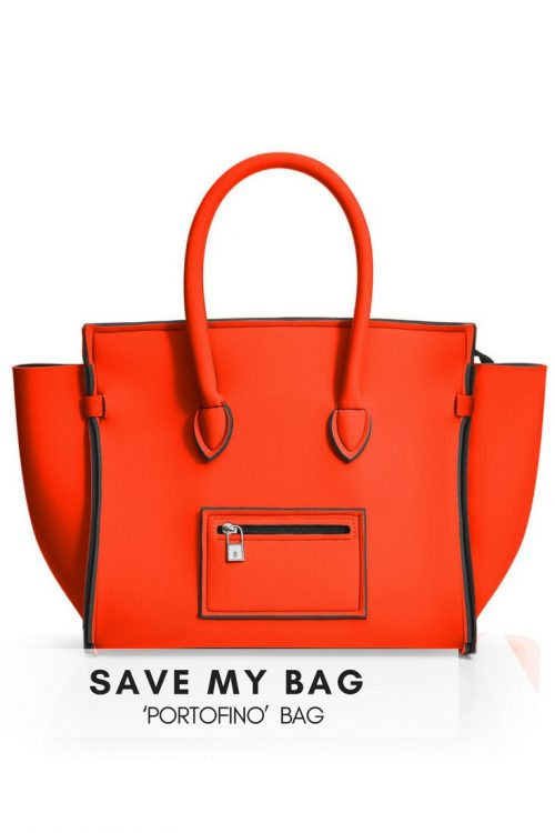 Rød eller orange 'Portofino' veske i dykkerstoff Save my Bag - Portofino