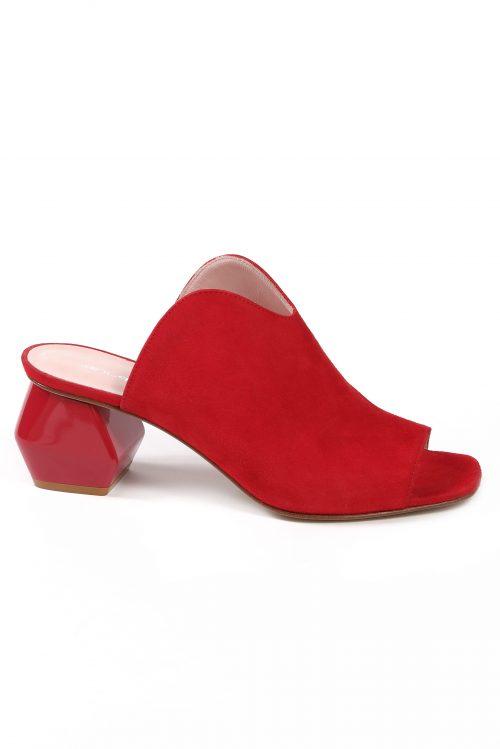 Rød semsket sandal Laura Bellariva - 388 B