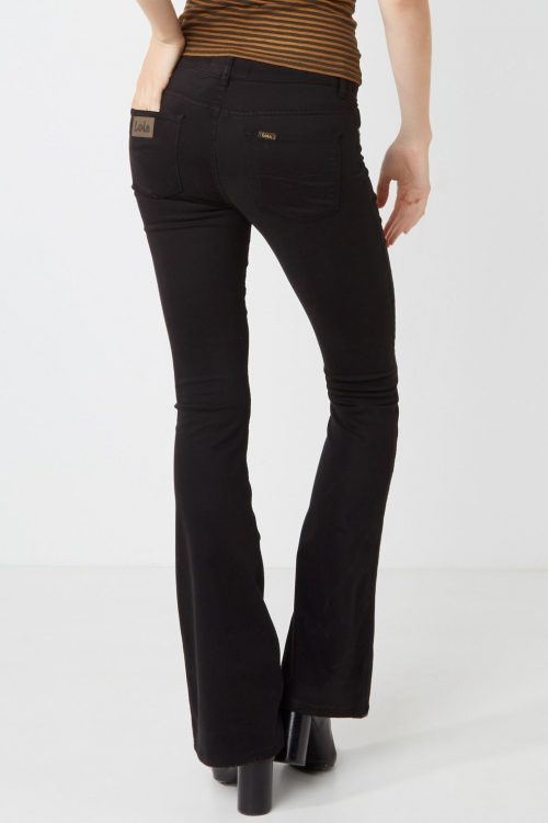 Supermyk sort flare bukse fra Lois - raval
