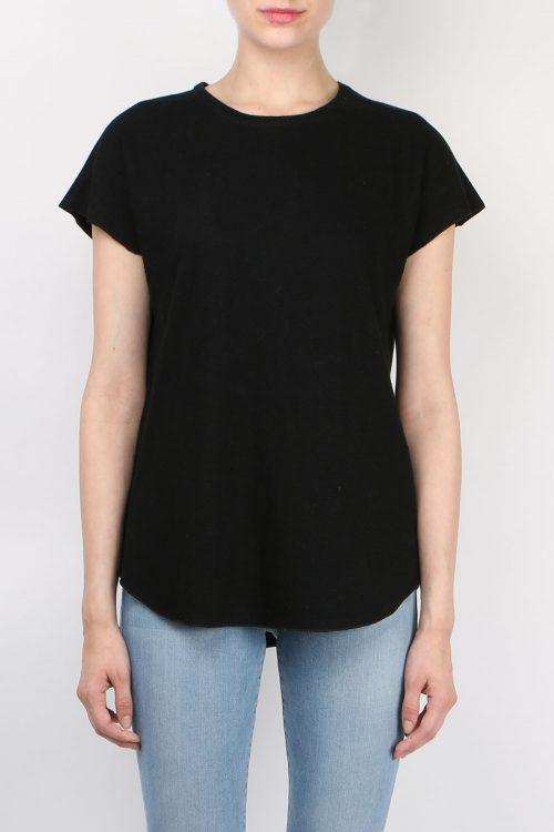 Hvit eller sort linetopp Cathrine Hammel - 202.118 linnen t-shirt