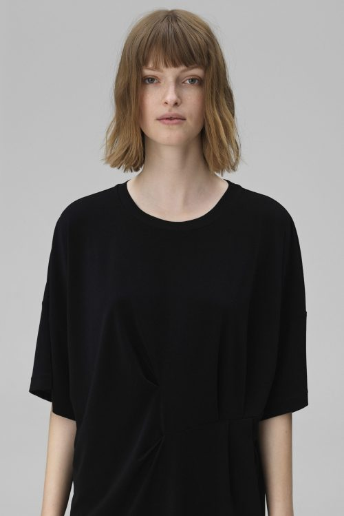 Sort oversized kjole By Malene Birger - hannii q55597126