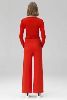 Rød eller sort viddebukse By Malene Birger - saveun q64876004
