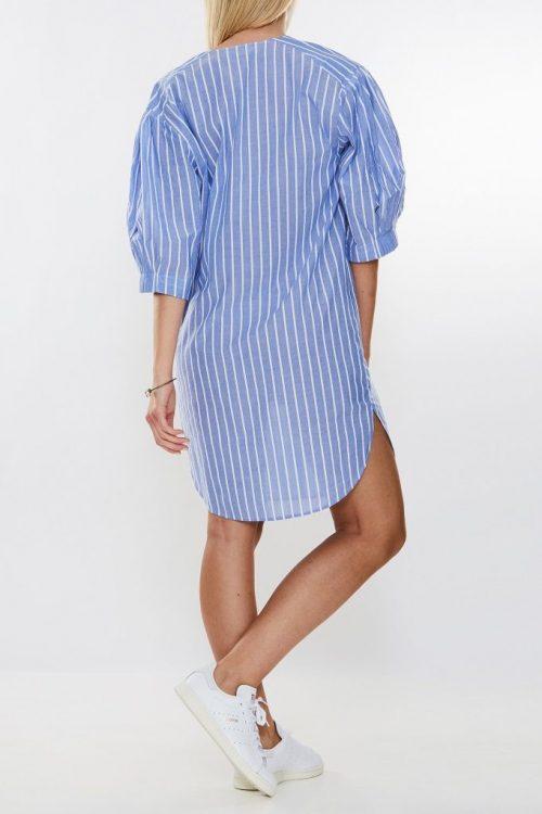 Lyseblåstripet kjole By Malene Birger - nomians q64897001