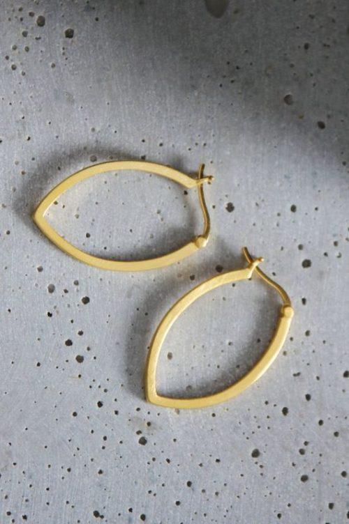 'Drop loop' øredobber i gullforgylt sterling sølv Enamel Copenhagen - drop loop