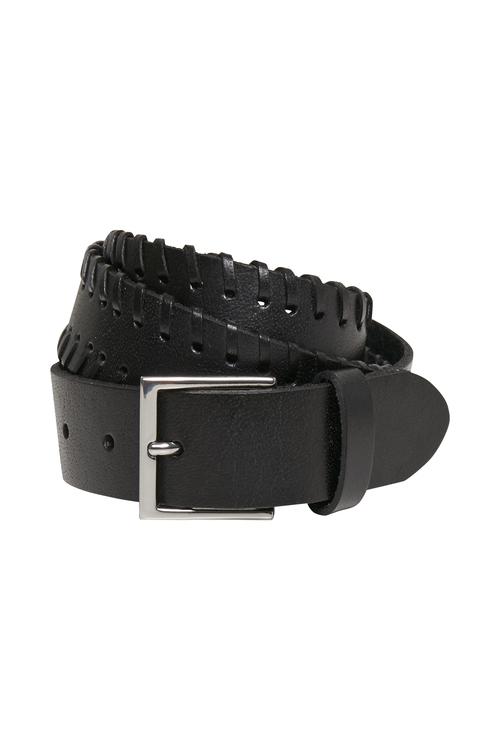 Sort skinnbelte med tvinnet stikningsdetalj Gestuz - bray belt